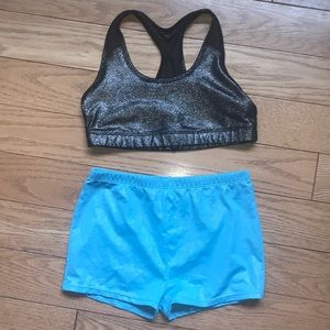 Dance Activewear Set Sports Bra Top & Shorts